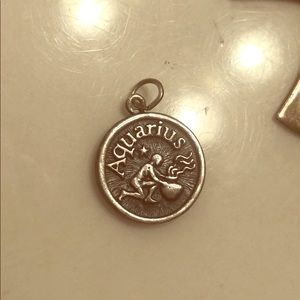 Sterling Silver Aquarius Horoscope Pendant Charm